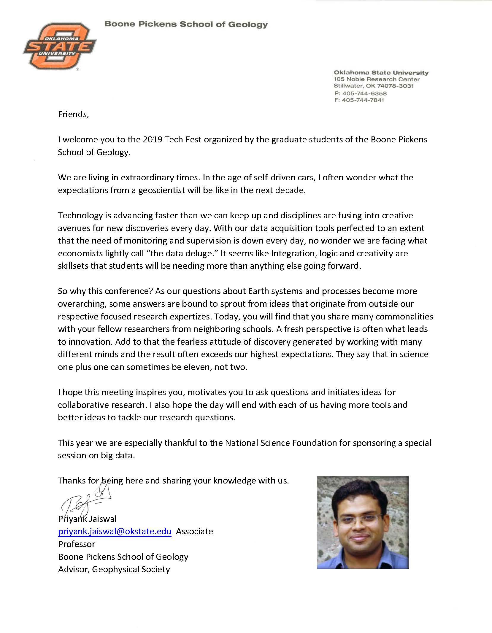 Priyank welcome letter